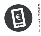 image of smartphone with euro...