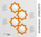 infographic shape of 3d octagon ... | Shutterstock .eps vector #295813373