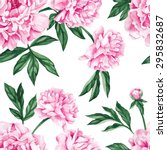 garden peony. seamless  hand... | Shutterstock .eps vector #295832687