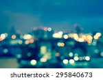 Blurred Lights Cityscape At...