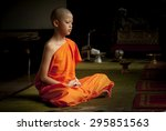 Buddhist Monk Meditation In...