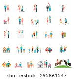 couple and family flat figures. ... | Shutterstock . vector #295861547