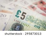 Closeup Banknotes Of The Pound...
