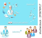 medicine doctor patient interns ... | Shutterstock .eps vector #295878917