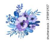 vector floral motif in... | Shutterstock .eps vector #295891937