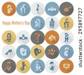 happy mothers day simple flat... | Shutterstock .eps vector #295897727