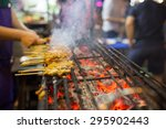 thai street food bbq   Shutterstock . vector #295902443