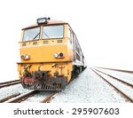 Train   Isolated On White...