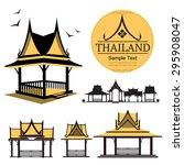 logo thai design house building ...   Shutterstock .eps vector #295908047
