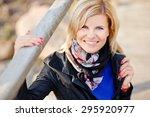 beautiful elegant woman...   Shutterstock . vector #295920977