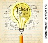 creative business infographic... | Shutterstock .eps vector #295925573