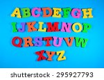 colorful plastic alphabet... | Shutterstock . vector #295927793