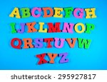 colorful plastic alphabet... | Shutterstock . vector #295927817