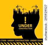 under construction background... | Shutterstock .eps vector #295929527