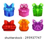 vector colorful gift boxes with ...