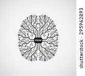 picture of a human brain in... | Shutterstock .eps vector #295962893