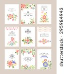 floral collection of romantic... | Shutterstock .eps vector #295984943