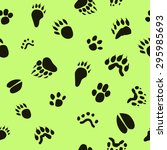 Pattern Paw Prints Of Animals