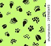 Pattern Paw Prints Of Animals