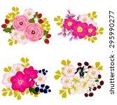 flower set   Shutterstock . vector #295990277