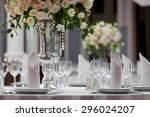 table setting at a luxury... | Shutterstock . vector #296024207