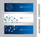 vector design banner network... | Shutterstock .eps vector #296043107