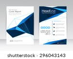 vector design for cover report... | Shutterstock .eps vector #296043143