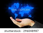Small photo of hand touch viral coefficient technology background
