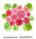 Hand Drawn Watercolor Begonia...