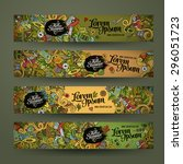 vector banner templates set... | Shutterstock .eps vector #296051723