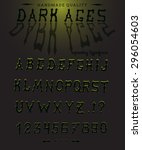dark ages hand crafted retro... | Shutterstock .eps vector #296054603