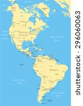 north and south america map  ... | Shutterstock .eps vector #296060063