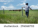 Horizontal Image Of  Cowboy...