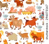 cute seamless pattern with... | Shutterstock .eps vector #296073167