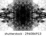 art of black smoke on white... | Shutterstock . vector #296086913