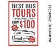 vector template for bus tours... | Shutterstock .eps vector #296087033