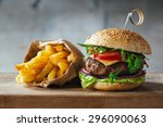 Delicious Burgers With Beef ...