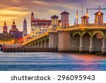 st. augustine  florida  usa... | Shutterstock . vector #296095943