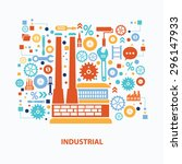 industrial concept design on... | Shutterstock .eps vector #296147933