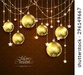 Christmas Golden Balls  Stars...