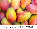 Fresh Colorful Tropical Mangoe...
