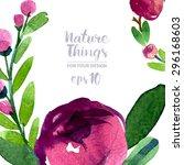 beautiful vector set flowers... | Shutterstock .eps vector #296168603