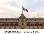 national palace  zocalo...   Shutterstock . vector #296175143