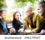 party celebrating friendship... | Shutterstock . vector #296179547