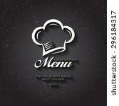 black menu for the restaurant.... | Shutterstock .eps vector #296184317