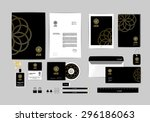 corporate identity template for ... | Shutterstock .eps vector #296186063