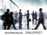 business people colleagues... | Shutterstock . vector #296195927