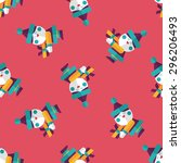 santa claus flat icon  eps10... | Shutterstock .eps vector #296206493