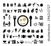 food and drink icon on white... | Shutterstock .eps vector #296212727