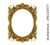 old decorative frame   handmade ... | Shutterstock . vector #296215577